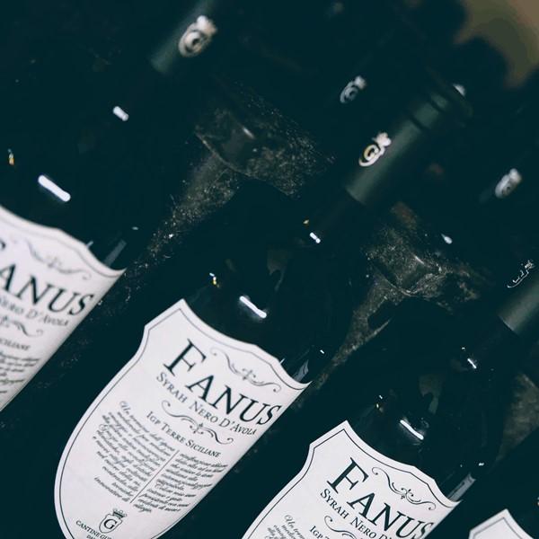 Italian red wine Fanus - Cantine Gulino