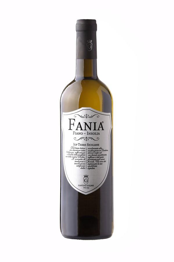 Italian white wine Fiano Insolia Fania - Cantine Gulino