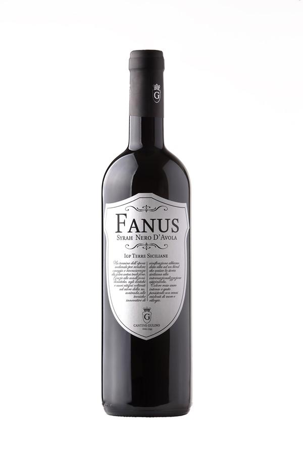 Red wine Syrah Nero d'Avola Fanus - Cantine Gulino