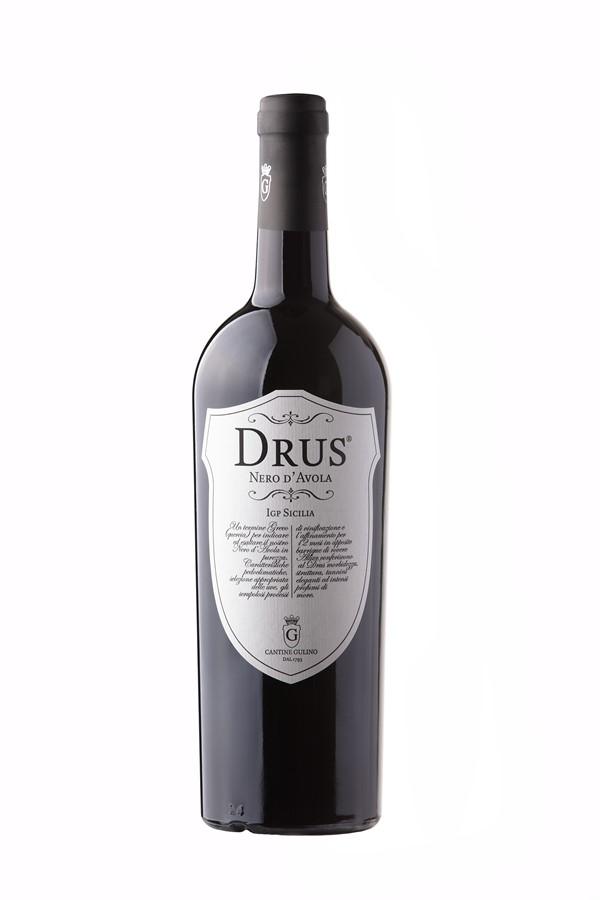 Vino rosso Nero D'Avola Drus - Cantine Gulino
