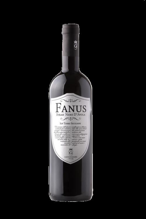 Vino rosso Syrah Nero d'Avola Fanus - Cantine Gulino