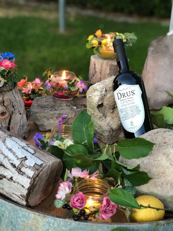 Italian red wine Drus - Cantine Gulino