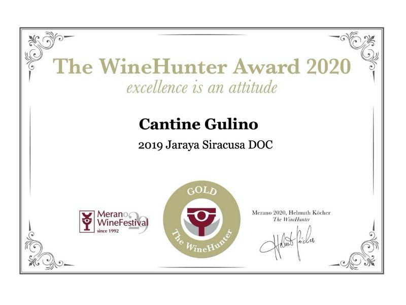 The WineHunter Award Gold Jaraya 2019 - Cantine Gulino